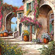 Archi E Fiori Art Print