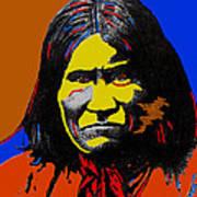 Art Homage Andy Warhol Geronimo 1887-2009 Art Print