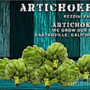 Artichokes Farm Art Print
