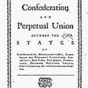 Articles Of Confederation Art Print