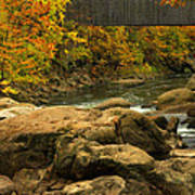 Autumn At Bulls Bridge Art Print