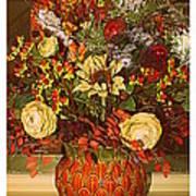 Autumn Blossoms Art Print