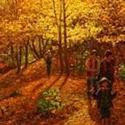 Autumn Bush Creek Track  Art Print