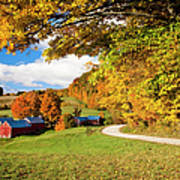 Autumn Farm Art Print