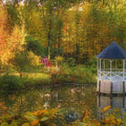 Autumn Gazebo Print by Joann Vitali