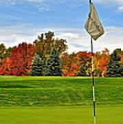 Autumn Golf Art Print