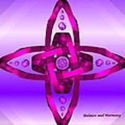 Balance And Harmony - Purple Art Print