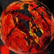 Basketball Abstract Art Print