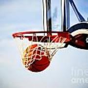 Basketball Shot Print by Lane Erickson