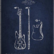 Bass Guitar Patent Drawing From 1960 Art Print