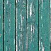 Battered Wooden Wall Art Print