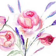 Beautiful Roses Flowers Art Print