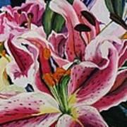 Becky's Lilies Art Print