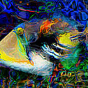 Below The Surface 4 Art Print