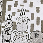 Berlin Wall Avatars Art Print