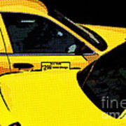 Big Yellow Taxis Art Print
