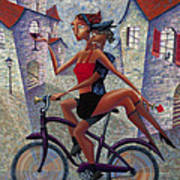 Bike Life Art Print by Ned Shuchter