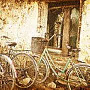 Bikes And A Window Art Print