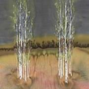 2 Birch Groves Art Print