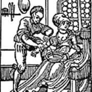 Bloodletting, 16th Century Art Print