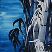 Blue Bamboo Art Print by Holly Donohoe