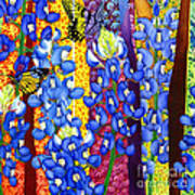 Bluebonnet Garden Art Print