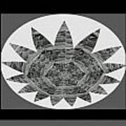 Bnw Black N White Star Ufo Art  Sprinkled Crystal Stone Graphic Decorations Navinjoshi  Rights Manag Art Print