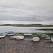 Boats On The Estuary Art Print