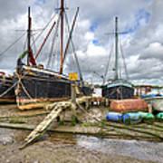 Boats On The Hard At Pin Mill Art Print