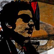 Bob Dylan Recording Session Art Print