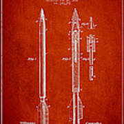 Bomb Lance Patent Drawing From 1885 Art Print