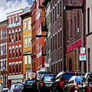Boston Street Art Print by Elena Elisseeva