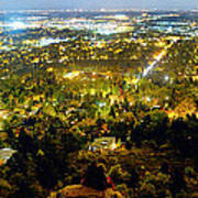 Boulder Colorado City Lights Panorama Art Print