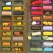 Box Of Pastels Art Print by Bernard Jaubert