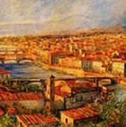 Bridges Of Florence Art Print