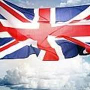 British Flag 3 Art Print