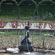 Brooklyn Botanical Gardens Fountain Art Print