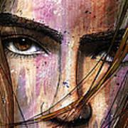 Brown Iris Entangled Art Print