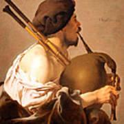 Brugghen's Bagpiper Player Art Print