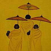 Buddha Monks Art Print