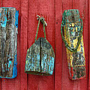 Buoys At Rockport Motif Number One Lobster Shack Maritime Art Print by Jon Holiday