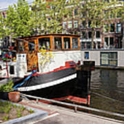 Canal In The City Of Amsterdam Art Print
