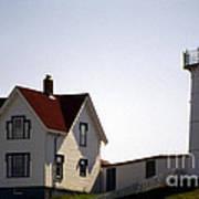 Cape Neddick Lighthouse Art Print by Skip Willits