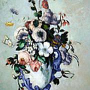 Cezanne's Flowers In A Rococo Vase Art Print