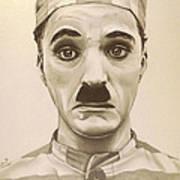 Vintage Charlie Chaplin Art Print