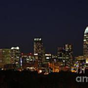 Charlotte City Skyline At Night Art Print