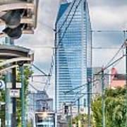 Charlotte North Carolina Light Rail Transportation Moving System Art Print