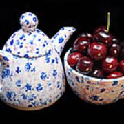 Cherries Invited To Tea Art Print