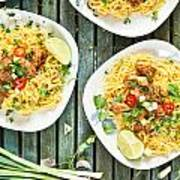 Chicken Noodles Art Print