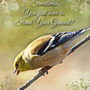 Chirping Gold Finch Art Print